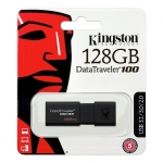 Kingston Data Traveller 100 G3 128GB USB-A 3.0 Flash Drive - Black