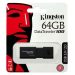 Kingston Data Traveller 100 G3 64GB USB-A 3.0 Flash Drive - Black