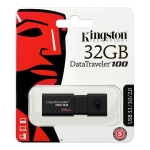 Kingston Data Traveller 100 G3 32GB USB-A 3.0 Flash Drive - Black