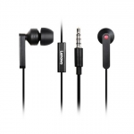 Lenovo 3.5mm Wired In-Ear Headphones with Mic - Black