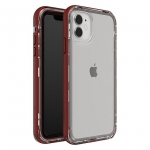 LifeProof NEXT Case for iPhone 11 - Raspberry Ice (Clear/Red Dahlia)