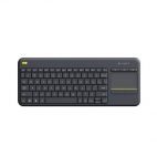 Logitech K400 Plus Wireless Keyboard with Touch Pad Black