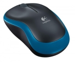 Logitech M185 Wireless Laser Mouse - Blue and Black