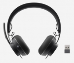Logitech Zone Wireless Plus Bluetooth Overhead Stereo Headset with Active Noise Cancellation - Black
