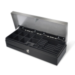 Maken FT-460 Flip Lid Cash Drawer 24 Volt (6 Bills, 8 Coins) - Stainless Steel