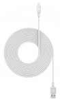Mophie 3m USB Type-A to Lightning Braided Charge & Sync Cable - White
