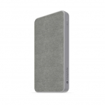 Mophie Powerstation Fabric 10000mAh Dual Port USB-C & USB Type-A Power Bank - Space Grey
