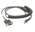 Zebra RS232 (DBF9) Powered Scanner Data Cable 2.8 Meters Coiled