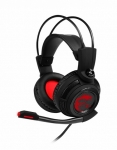 MSI DS502 USB 2.0 Overhead Wired Gaming Headphones with 7.1 Surround - Black