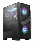 MSI Mag Forge 100R Mid Tower Case with Tempered Glass Window - Black