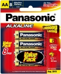 Panasonic Alkaline AA Batteries - 8 Pack