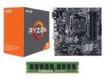 AMD Ryzen 5 1500X + Asus B350M-A + Kingston 8GB DDR4 Value PC Kit