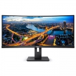 Philips B-Line 345B1C 34 Inch 3440x1440 21:9 4ms 100Hz 300nit Ultrawide  VA Curved Monitor with Speakers & USB Hub - DisplayPort, HDMI