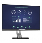 Philips Brilliance 25 Inch 2560 x 1440 Narrow Bezel IPS Monitor with USB-C Dock - VGA, DVI-D, DisplayPort, HDMI