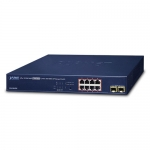 Planet GS-4210-8P2S 8 Port Gigabit Ethernet 10/100/1000BASE-T Layer 2 PoE Managed Switch + 2x 100/1000X SFP