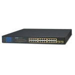 Planet GSW-2620VHP 24 Port Gigabit Ethernet 10/100/1000BASE-T PoE Unmanaged Switch + 2x Gigabit SFP