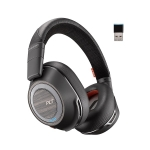 Poly Voyager B8200 UC USB-A Bluetooth Over the Head Stereo Boomless Headset with Noise Cancelling - Black