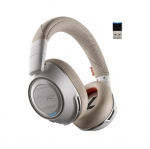 Poly Voyager 8200 UC Wireless Stereo Bluetooth Noise Cancelling Headset - White