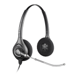 Poly SupraPlus HW261 Quick Disconnect Over the Head Wired Stereo Headset with Voice Tube
