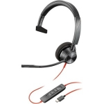 Poly Blackwire 3310-M MS USB-C Over the Head Wired Mono Headset - Optimised for Microsoft Business Applications