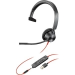 Poly Blackwire 3315-M MS USB-A & 3.5mm Over the Head Wired Mono Headset - Optimised for Microsoft Business Applications