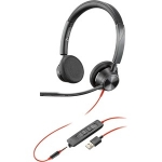 Poly Blackwire 3325-M MS USB-A & 3.5mm Over the Head Wired Stereo Headset - Optimised for Microsoft Business Applications