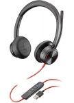 Poly Blackwire 8225-M MS USB-A Over the Head Wired Stereo Headset - Optimised for Microsoft Business Applications