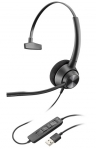 Poly Encorepro EP310 USB-A Over The Head Wired Mono Headset with Noise Cancelling - Black