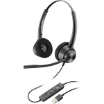 Poly Encorepro EP320 USB-A Over The Head Wired Stereo Headset with Noise Cancelling - Black