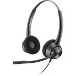 Poly Encorepro EP320 Quick Disconnect Over The Head Wired Binaural Headset with Noise Cancelling - Black