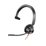 Poly Blackwire 3315 UC USB-C & 3.5mm Over the Head Wired Mono Headset