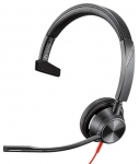 Poly Blackwire 3315 USB-A & 3.5mm Over the Head Wired Mono Headset