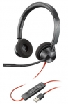Poly Blackwire 3320 UC USB-A Over the Head Wired Stereo Headset