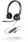 Poly Blackwire 3320 UC USB-C Over the Head Wired Stereo Headset