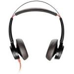 Poly Blackwire 7225 UC USB-A Over the Head Wired Stereo Headset with Active Noise Cancelling - Black
