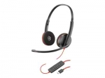 Poly Blackwire C3220 USB-C Over the Head Wired Stereo Headset