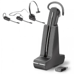 Poly SAVI 8240-M UC MS USB-A Convertible Wireless Mono Headset with Noise Cancelling - Optimised for Microsoft Business Applications