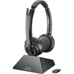 Poly SAVI S8220-M UC MS USB-A Over the Head Wireless Stereo Headset with Noise Cancelling