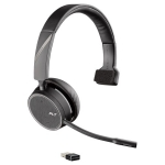 Poly Voyager 4210 UC USB-A Bluetooth Over the Head Wireless Mono Headset with Noise Cancelling