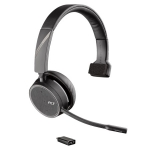 Poly Voyager 4210 UC USB-C Bluetooth Over the Head Wireless Mono Headset with Noise Cancelling