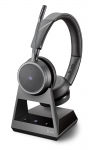 Poly Voyager 4220 Office MS USB-A Bluetooth Over the Head Wireless Stereo Headset with 2 Way Base