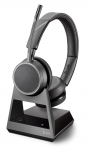 Poly Voyager 4220 Office USB-C Bluetooth Over the Head Wireless Stereo Headset with 2 Way Base