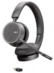 Poly Voyager 4220 UC USB A Bluetooth Over the Head Wireless Stereo Headset with Noise Cancelling