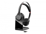Poly Voyager Focus B825 UC USB-C Bluetooth Over the Head Wireless Stereo Noise Cancelling Headset with Stand