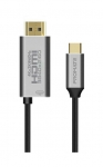 Promate 1.8m 60W 4K USB-C to HDMI Fabric Braided Cable