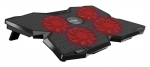 Promate AirBase-3 Ergonomic Laptop Cooling Pad with Silent Fan Technology - Black
