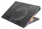 Promate Artic Portable Height Adjustable RGB Gaming Cooling Pad - Black