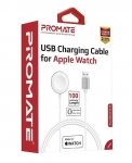 Promate AuraCord-A USB Charging Cable for Apple Watch - White