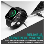 Promate AuraCord-C USB-C Charging Cable for Apple Watch - Black