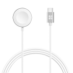 Promate AuraCord-C USB-C Charging Cable for Apple Watch - White